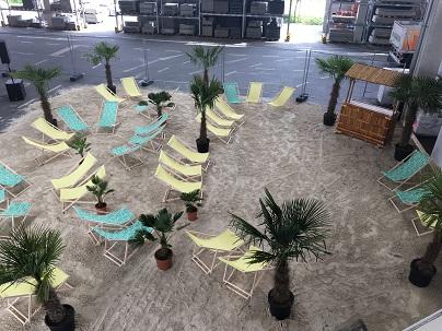 Beacharea für Firmenfeier